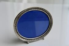 """Vintage Silver Plated Oval Photo Frame for 4"""" x 3"""" Photo"""