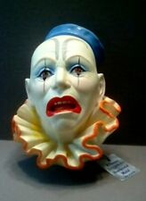 Clown #4 Legends Chalkware Head Wall Hanging Bust 1984 Made in England F Wright!