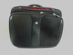 Wenger Swiss Gear Black Triple Gusset Wheeled Computer Case Luggage WA 7953-02