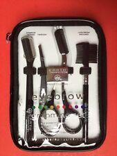 4PC Professional Eyebrow & Lash Grooming Set Tweezer Shaver Scissors Women Men