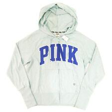 NEW Genuine PINK VICTORIA'S SECRET Lightweight Logo Hoodie Hoody Womens Medium