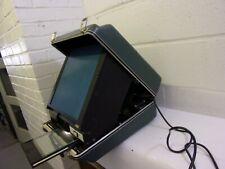 Vintage Wsi Portable Microfiche Reader Suitcase Viewer Tested Working