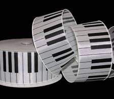 "5 Yards Musical Piano Keys Music Musician Wired Ribbon 2 1/2""W"