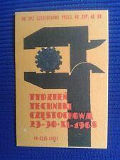 20. Vintage Label with of matches - Etykiety z zapalek