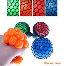 1Pcs Anti Stress Reliever Mesh Grape Ball Autism Mood Squeeze Relief Toys Random