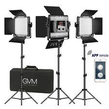 GVM Bi-Color LED Photography Video Studio Lighting Kit Panel Tripod Wireless APP