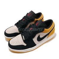 Nike Air Jordan 1 Low I AJ1 Sail University Gold Black Men Shoes 553558-127