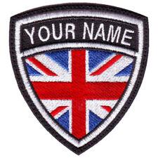 UNITED KINGDOM CUSTOM FLAG NAME EMBROIDERED PATCH