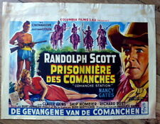 belgian poster western COMANCHE STATION, RANDOLPH SCOTT, NANCY GATES, INDIENS