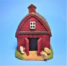 MINIATURE CLASSIC RED  BARN ~ FARM ~FAIRY GARDEN ~ BARNYARD ~ HOUSE