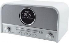 Soundmaster NR850WE in Weiß, UKW/PLL/DAB+ Radio, Bluetooth, CD/MP3, USB, LCD-Uhr