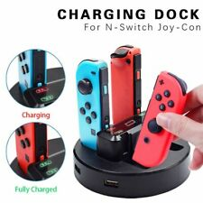 Charger Cradle 4In1 USB Charger Stand Holder for Switch NS Joy-Con with2ExtraUSB