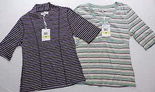 $60 new - WOMENS lot of 2 striped SHIRTS TOPS = CAROLYN TAYLOR = medium = de40