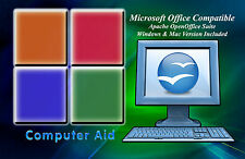 2017 Professional Open Office Suite Win 7 8 10 and Mac Compatable - DVD
