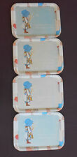 HOLLY HOBBIE Vintage TV SNACK LAP TRAYS Set of 4 dated 1974   12¾ x 17½ Inches