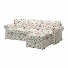 Ikea Ektorp 2 Seat Sofa & Chaise Cover, Videslund Multicolour 503.046.88