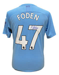PHIL FODEN SIGNED MANCHESTER CITY 2019/20 FOOTBALL SHIRT SEE PROOF + COA