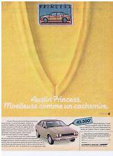 PUBLICITE ADVERTISING 104 1981 AUSTIN PRINCESS moelleuse comme un cachemire