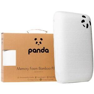 Panda Memory Foam Bamboo Pillow Tripe Layer Luxury Soft Hypoallergenic Cushion