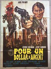 Affiche POUR UN DOLLAR D'ARGENT Alfonso Brescia GEORGE EASTMAN Palance 120x160 *