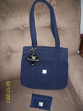 2 Pc. Fundamentals, LLC. Navy Quilted Tote Handbag & Matching Wallet