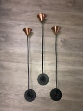 Vintage Michael Aram Copper, Brass and Wrought Iron Wall Candleholders