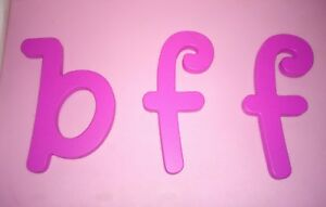 """3 WOODEN LETTERS by KIDKRAFT pink bff  6""""  WALL HANGING ALPHABET"""