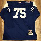 vtg NWOT#75 deacon jones Angeles Rams 1969 throwback jersey size 56 Long Sleeve
