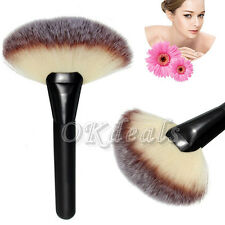 Makeup Large Fan Goat Hair Blush Face Powder Foundation Blending Cosmetic Brush