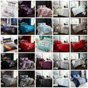 Clearance Sale Duvet Cover with Pillow Case Quilt Cover Bedding Set All Sizes