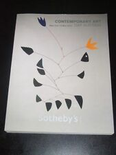 Sotheby's Auction Catalog CONTEMPORARY ART Day Auction Sale # 8637 New York 2010