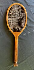 Antique Tennis Racket THE CLUB fishtail Unknown Maker