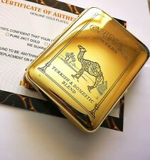 24Ct Gold Plated Camel Cigarette Tobacco Pocket Carry Case Roll Up Box 24k