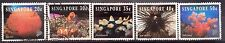 Singapore Used Stamps - 5 pcs 1994 Corals & Reef Life Stamps