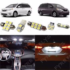 11x White LED lights interior package kit for 2011-2014 Toyota Sienna TS3W