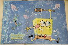 Vintage 2001 SpongeBob SquarePants Pillow Case Nickelodeon 2 sided