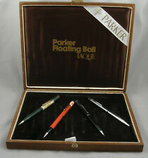 Parker 180 Lacquer Rollerball Pens Wood 4-Pen Display Case - 1980's