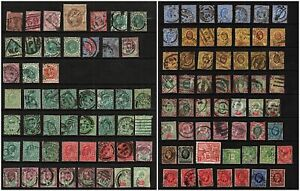2824 Large QV - KGV Collection on 2 Hangers. Inc mint, High Vals. High CV