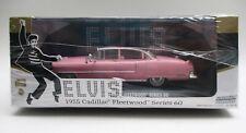 Greenlight 1/43 86491 Elvis 1955 Cadillac Fleetwood Series 60 Black Roof Chase