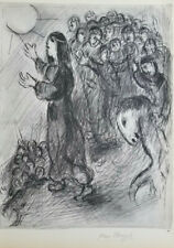 MARC CHAGALL 1960 HAND SIGNED HELIOGRAVURE FROM VERVE THE BIBLE + NO RESERVE !!
