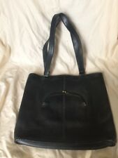 Coach Vintage Tote Black Leather Bag Watermelon Kisslock, Cashin Made in Nyc