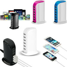 Multi 6 / 5 USB Port Charger Rapid Tower Charging Station Power Adapter 30W /20W