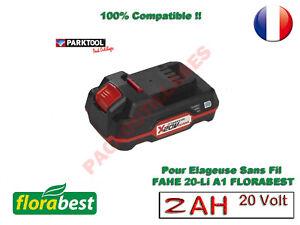 FLORABEST® 20V 2Ah Li-Ion BATTERIE  (FHSA 20 A1) PARKSIDE FAHE 20 Li A1