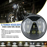 5.75'' 5-3/4'' Moto Phare Projecteur LED Hi/Lo DRL Ambre Clignotant Pour Harley