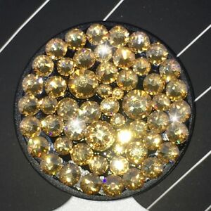 Bling Authentic Black PopSocket w/ Gold Swarovski Crystals PopSockets iPhone LG
