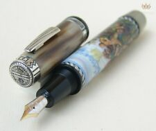 KRONE LIMITED EDTION GENERAL GEORGE ARMSTRONG CUSTER SILVER FOUNTAIN PEN AWESOME