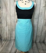 Stunning Blue Black MANOUKIAN Designer Pencil Wiggle Dress Size 10 VGC