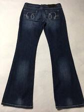 District 9 D9 27 Turner Denim Boot Cut Blue Jeans Sparkle Bling Pockets