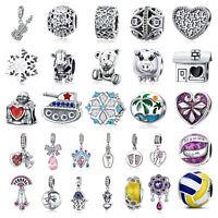 Wostu European 925 Silver Charms Fashion Pendant Jewelry Gift Fit Bracelet Chain