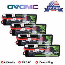2x Ovonic 50c 6200mah 7.4v 2s Lipo Battery for RC Evader BX Car Traxxas Slash